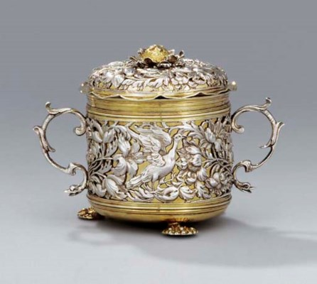 A Charles II silver and silver