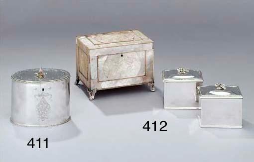 A George III silver tea-caddy