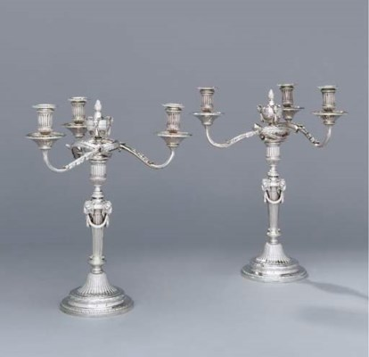 A pair of George III silver th
