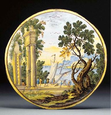 A Castelli circular plaque