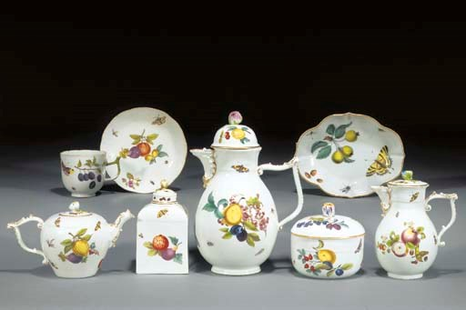 A Meissen part tea and coffee-
