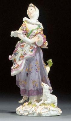 A Meissen figure of a dancing