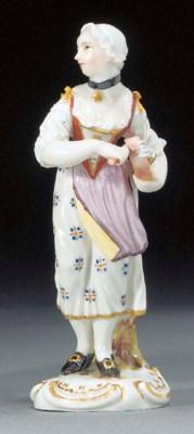 A Ludwigsburg figure of a hurd