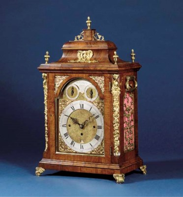 A George III walnut and gilt-b