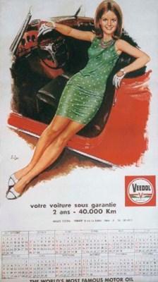 Veedol - Calendar 1967 - decor