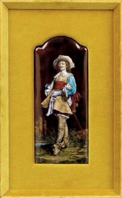 A French enamel plaque