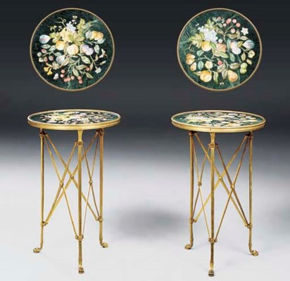 A pair of Italian gilt-bronze