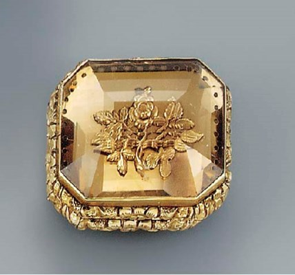A George IV gold-mounted pale