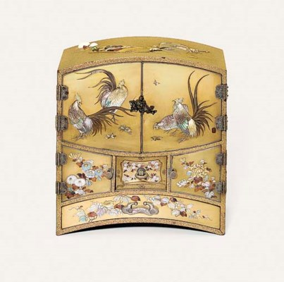 An Elaborate Shibayama Cabinet