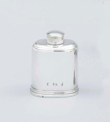 A George II silver tea caddy a
