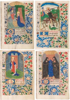 BOOK OF HOURS, in Latin and Fr