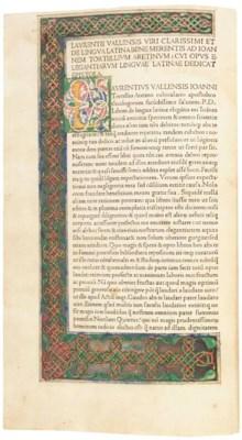 VALLA, Laurentius (1406-57). E