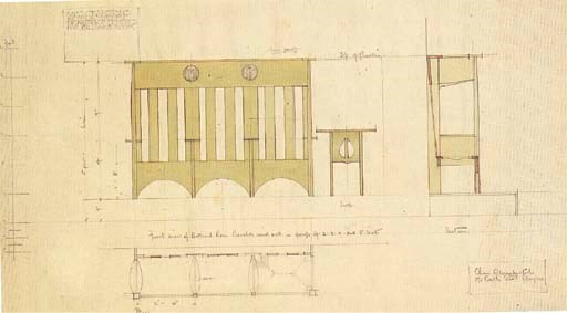 Design for Benches and a Table