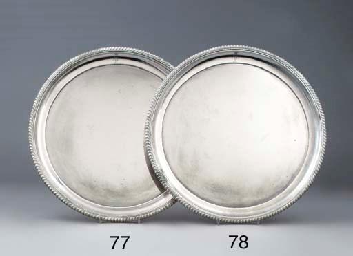 A German silver salver
