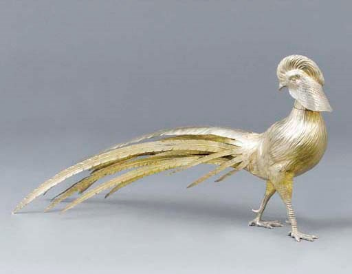 A Continental silver-gilt mode