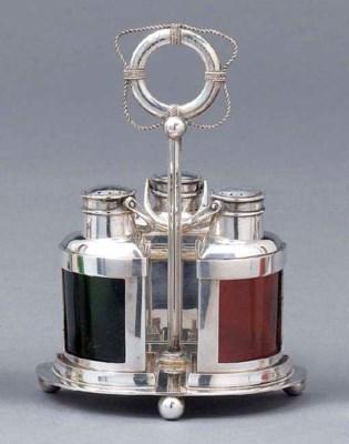 A German silver novelty cruet-