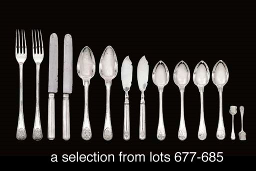 A group of German silver servi