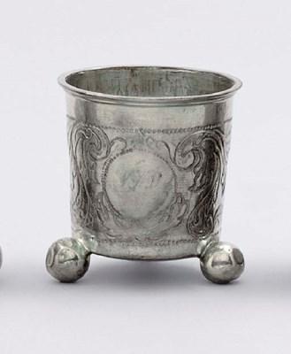 A Norwegian silver beaker