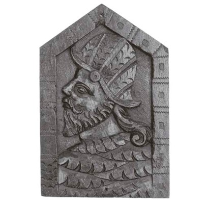 A Romayne relief carved oak pa
