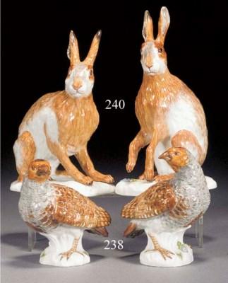 A pair of modern Meissen model