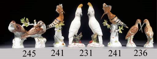 A pair of Meissen models of sn