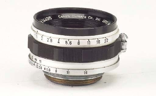 Canon f/1.5 35mm. no. 14435