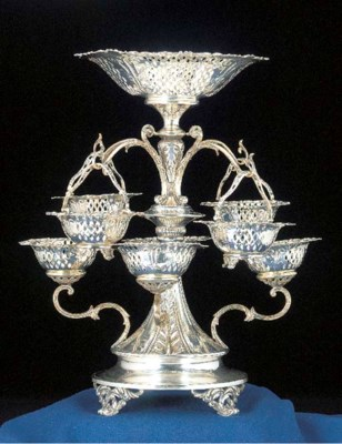 An Edwardian Silver Epergne