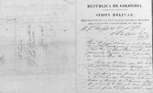BOLIVAR, Simon (1783-1830). Le
