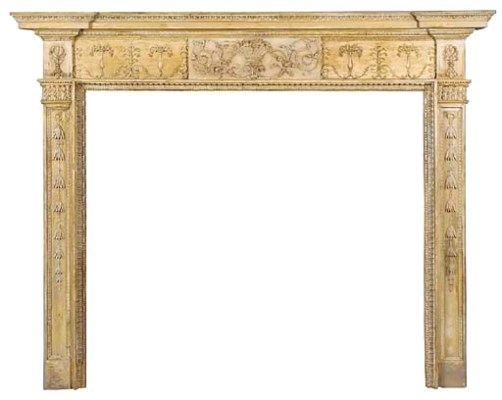 A George III carved pine and g