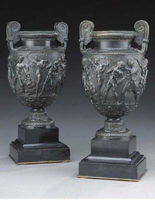 A pair of French models of the
