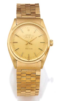 ROLEX, A 14ct. GOLD AUTOMATIC