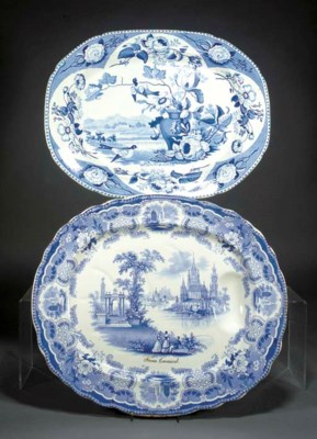 An English ironstone blue and