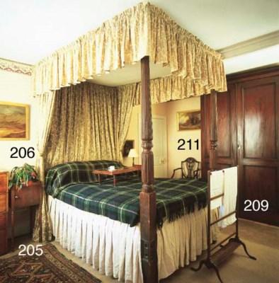 A Victorian mahogany towel-rai
