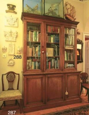 A late Victorian oak bookcase