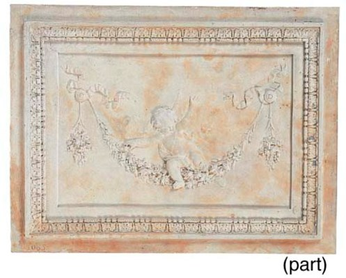 A pair of plaster relief panel