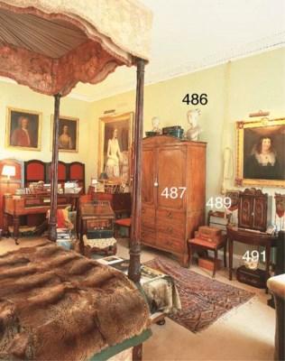 A mahogany wardrobe