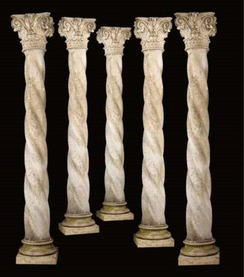 A set of eight Vicenza stone a