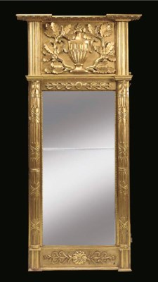 A SWEDISH CARVED GILTWOOD AND
