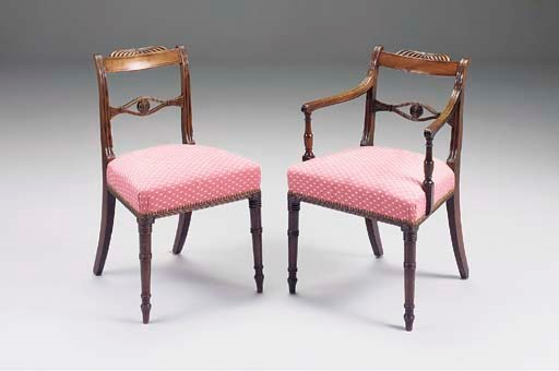 A SET OF EIGHT REGENCY AND MAH