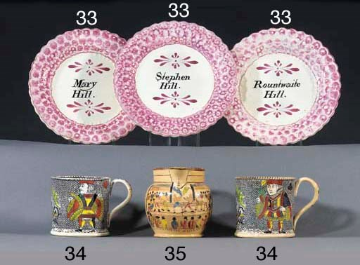 Three Dixon & Co. pink lustre