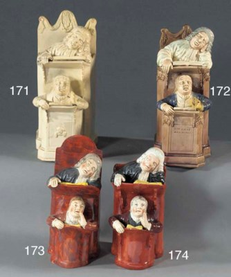 A pearlware Vicar and Moses pu