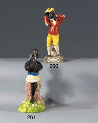 A pearlware figure of Jim Crow