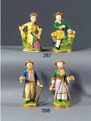 Two porcelain figures of an Or