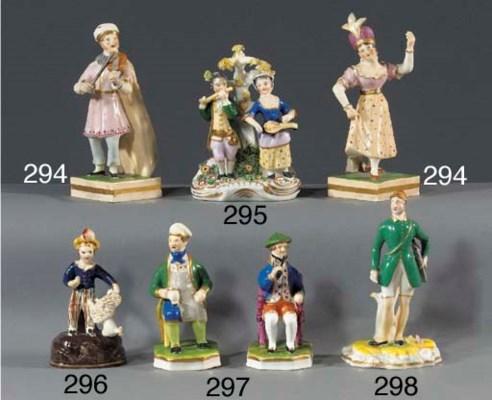 A porcelain group of musicians