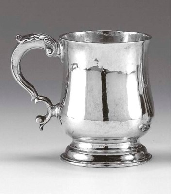 A GEORGE II SCOTTISH SILVER MU