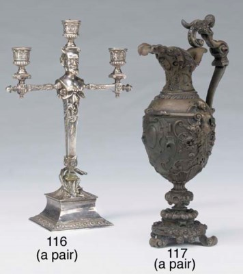 A pair of French ornamental br