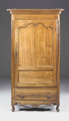 A FRENCH FRUITWOOD ARMOIRE, EA