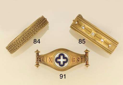 A 19th century gold bangle,