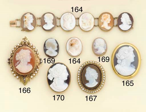 A late 19th century agate came