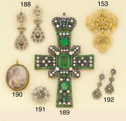 A 19th century jewelled large